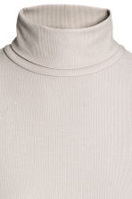 Ribbed polo-neck top - Light grey - Ladies | H&M 2